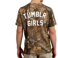 Tumblr Girl Camo T Shirt, Camo Tee