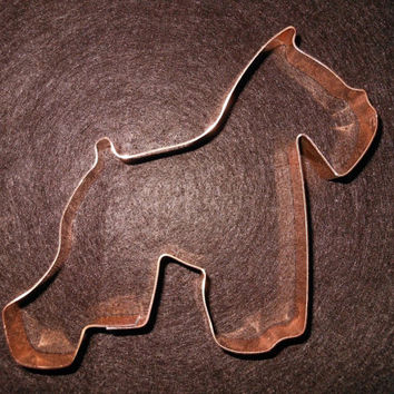Schnauzer Dog Breed Cookie Cutter - hand crafted solid copper - free shipping in USA