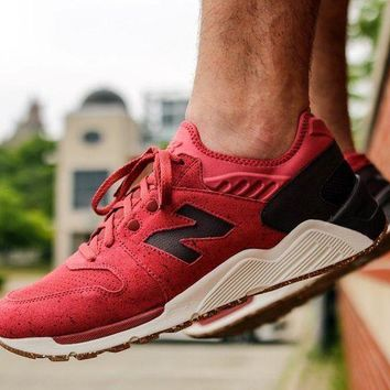 ICIKGQ8 new balance 009 speckle suede clay red with supernova red