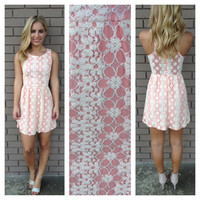 Pink Lace Be Mine Sleeveless Dress