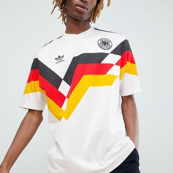 adidas Originals Retro Germany Football Jersey In White CE2343 at asos.com