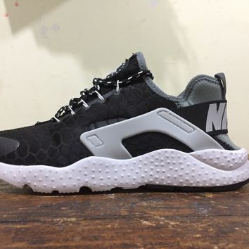 Nike Air Huarache Run Ultra SE Black Ash Women Men Running Sport Casual Shoes Sneakers