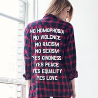 No / Yes Custom Flannel - Jac Vanek