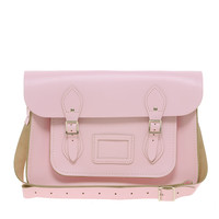 "Cambridge Satchel Company Baby Pink 14"" Leather Satchel"