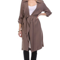City Sleeker Cocoa Trench Coat