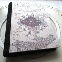 Harry Potter Inspired The Marauders Map Binder Case journal diary organizer calendar - Moony wormtail padfoot & prongs