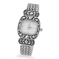 Oxidized Square Face Cuff Fashion Watch