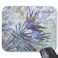 Abstract Pastel Flowers Drawing Mousepad