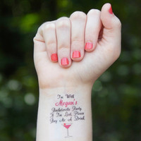 5 Bachelorette Tattoos - Bachelorette Party Temporary Tattoos - If I'm Lost, Buy Me A Drink