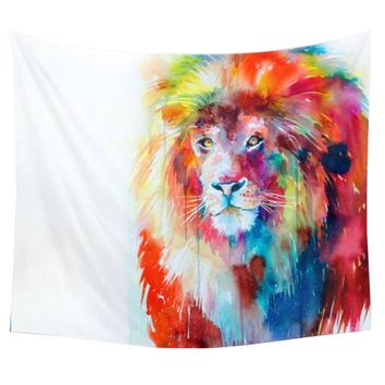 lion tapestry polyester indian mandala 3d blankets indian bohemian decor wall hanging elephant tapestry