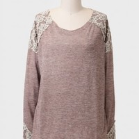 In Memory Lace Detail Sweater
