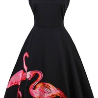 Atomic Vintage Flamingo Swing Dress