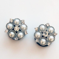 Glamsquared *Fashion Plugs*Jewelry*Accessories* — Grandma's Pearls Plugs - Wedding Prom Formal