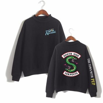 South Side Serpents Print Sweatshirts Riverdale Hoodies Sweatshirt Women Loose Turtleneck Long Sleeves Hip Hop Tracksuit Tops