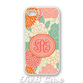 Monogram iPhone 4 Case iPhone 5 Case Summer Floral by TaBCase