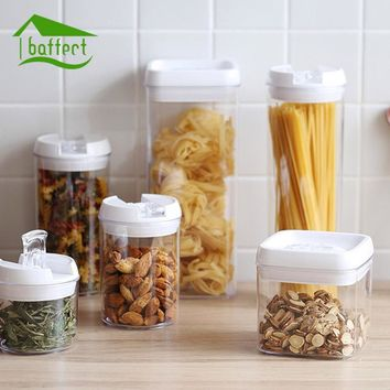 Plastic Food Storage Box Sealed Crisper Grains Tank Storage Sorting Food Storage Box Dry Fruit Container Storage Organizer