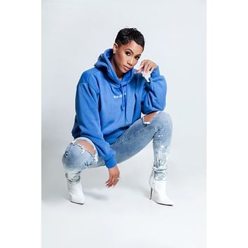 The Difference Hoodie- Blue