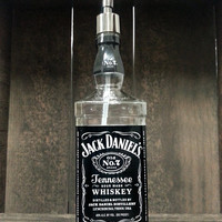 Repurposed Jack Daniels Soap Dispenser - Made from Recycled Bottles