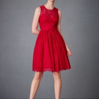 Crimson Lace Dress in SHOP New at BHLDN