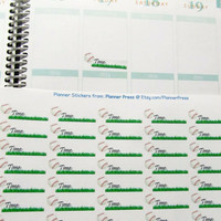 40 Baseball Practice Time Reminder Planner Stickers For Your Life Planner