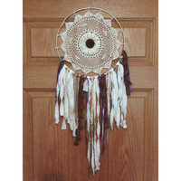 Bohemian Dreamcatcher with White Sunflower || Boho || Hippie || Apartment || Dorm || Wall Hanging