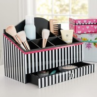 MayBaby Beauty Sectional, Black and White Stripe