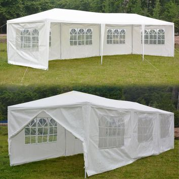 10'x30'Canopy Party Wedding Tent Outdoor Heavy Duty Pavilion Cater Event
