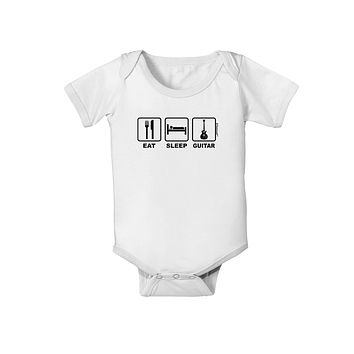 Eat Sleep Guitar Design Baby Romper Bodysuit by TooLoud