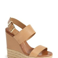 "Women's Jessica Simpson 'Allyn' Wedge Platform Leather Sandal, 5"" heel"