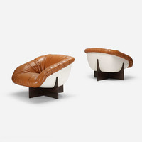 Lounge Chairs, Pair By Percival Lafer