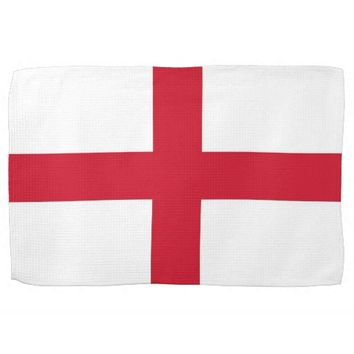 Kitchen towel with Flag of England