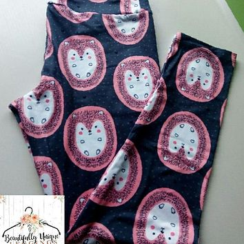 Cute Hedgehogs Leggings (Exclusive Color)