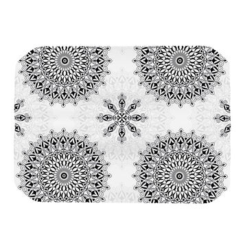 "Julia Grifol ""Black Mandala"" White Black Place Mat"