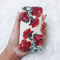 Red Roses (Transparent) iPhone 6 case by Heart of Hearts Designs | Casetify