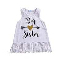 Big Sister Infant Sleeveless Tassel Dress