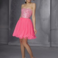 Short Homecoming Dresses From Sticks And Stones By Mori Lee Dress Style 9282 Chiffon with beading