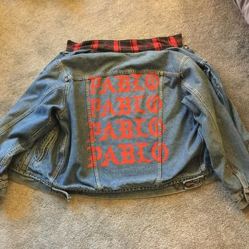 Kanye West Pablo Merch Pablo X Levis Denim Jacket Exclusive Pop Up Store Edition Size M $760
