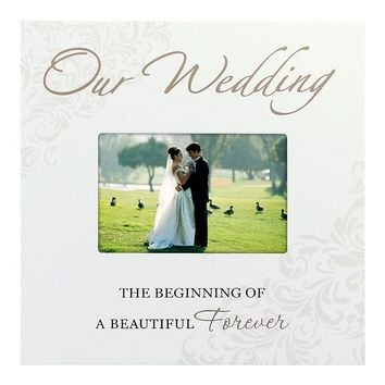 Malden 4'' x 6'' ''Our Wedding'' Frame (White)