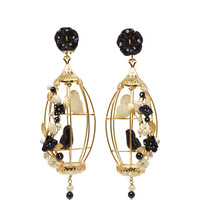 Black and White Lovebird Earring | Moda Operandi