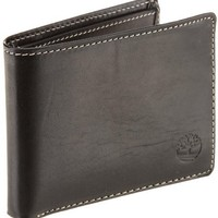 Timberland Men's Hookset Passcase Wallet, Black, One Size