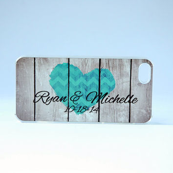 Personalized Phone Case iPhone 6 Case Rustic Wood Phone Case iPhone 5 Case iPhone 6 Unique Wedding Gift for Couples Monogram Phone Case