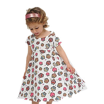 Owl Dress Little Girls Dresses Toddler Dress Fall Dress Birthday Dress Thanksgiving Dress Girls Clothing Birthday Outfit Dress With Owls