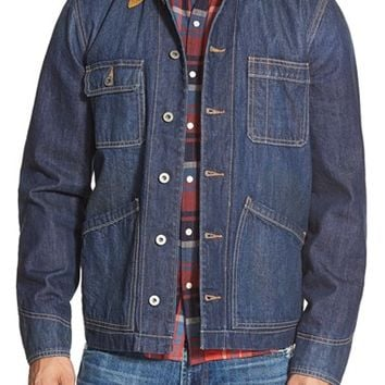 Men's Lucky Brand Workwear Denim Jacket with Corduroy,