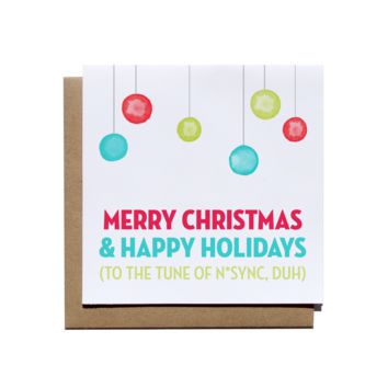 Merry Christmas Happy Holidays Card