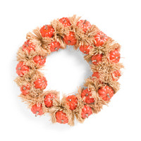 24in Rose Gold Faux Pumpkin Wreath - Harvest - T.J.Maxx