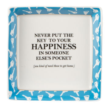 The Key To Your Happiness Trinket Dish