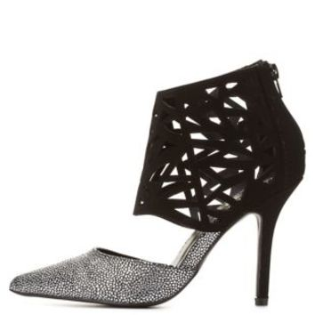 Qupid Laser Cut-Out Caged Pump by