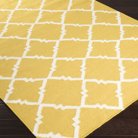 Frontier Area Rug | Gold Geometric Rugs Hand Woven | Style FT449