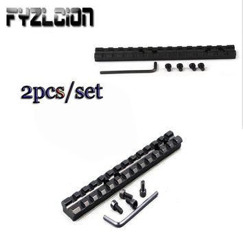 2pcs Picatinny/Weaver Rail 20mm Hunting Scope Mount for Shortgun 13 Slots Mossberg 500,590,835 T01 C