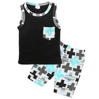 "Baby Boy 2 Piece Set ""Cross"""